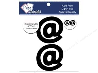 "Paper Accents Adh Vinyl Punctuation 4"" @ Blk 2pc"