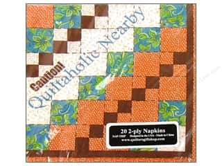 Quilters Gift Shop Napkins 6.5&quot; Folded Quiltaholic