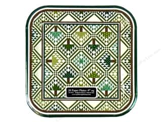 Quilters Gift Shop Paper Plate 9&quot; Pine Tree