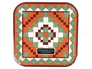 Quilters Gift Shop Paper Plate 9&quot; QuiltaholcNearby