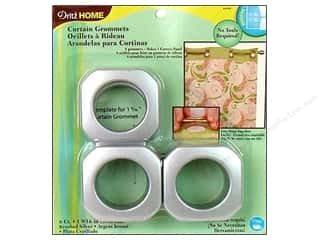 Dritz Home Curtain Grommets Large 1 9/16 in. Square Brushed Silver 8pc