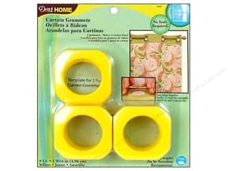 Dritz Home Curtain Grommets Large 1 9/16 in. Square Yellow 8pc