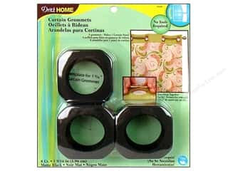 plastic curtain grommets: Dritz Home Curtain Grommets 1 9/16 in. Matte Black 8pc.