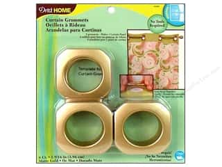 metallic curtain grommets: Dritz Home Curtain Grommets 1 9/16 in. Matte Gold 8pc
