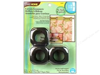 Dritz Home Curtain Grommets Medium 1 in. Square Matte Black 8pc