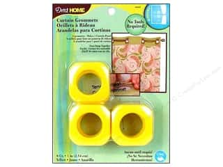 Dritz Home Curtain Grommets Medium 1 in. Square Yellow  8pc