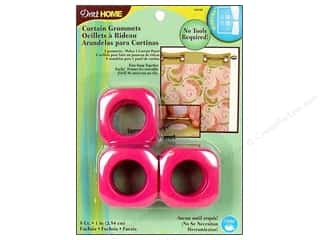 Dritz Home Curtain Grommets Medium 1 in. Square Fuchsia 8pc