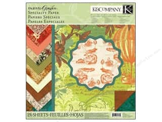 K&amp;Co Paper Pad 12x12 Engraved Garden Specialty