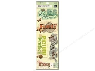 New Burgundy: K&Company Stickers Engraved Garden Word Medly