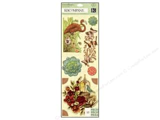 New Burgundy: K&Company Stickers Engraved Garden Icon Medley