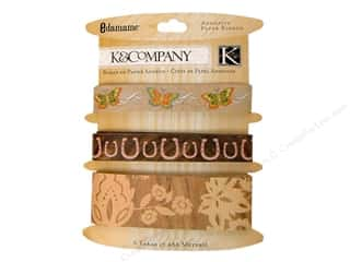 K&amp;Co Adhesive Embellishments Paper Ribbon Edamame