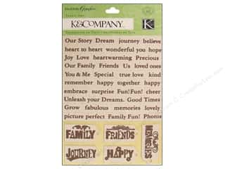 K&amp;Co.: K&amp;Co Fabric Art Engraved Garden Word &amp; Tag