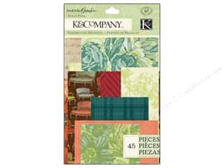 K&Company Embellishments Scrap Pack Engraved Garden