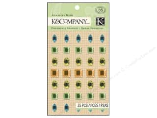 K&amp;Co Adhesive Embellishments Gems Spring