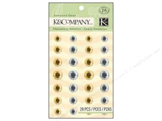K&amp;Co Adhesive Embellishments Gems Metallic