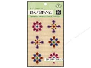 K&amp;Co Adhesive Embellishments Gems Bright Flower
