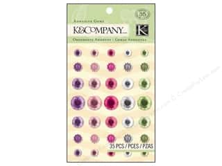 K&amp;Co Adhesive Embellishments Gems Girly