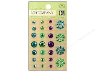 K&amp;Co Adhesive Embellishments Gems Cool Flower