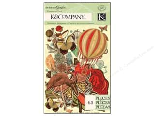 K&Co Embellishments Ephemera Pack Engraved Garden