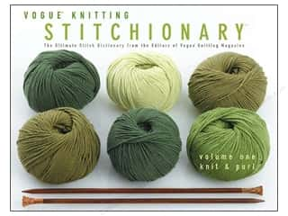 Clearance Wrights Flexi-Lace Hem Facing 1.75: Vogue Stitchionary Vol 1 Knit & Purl Book