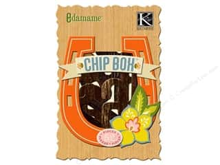 Chipboard ABC & 123: K&Company Chipboard Chipbox Edamame Alphabet