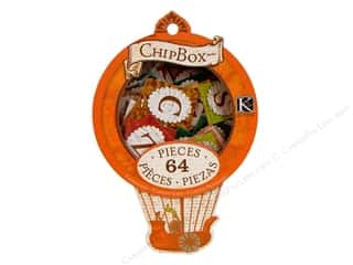 k &amp; company chipboard: K&amp;Co Chipbox Engraved Garden Alphabet