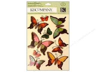 K&Co Grand Adhesions Engraved Garden Butterfly