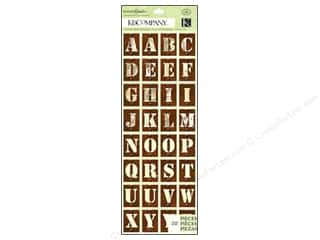 k & company chipboard: K&Co Adhesive Chipboard Engraved Garden Alphabet