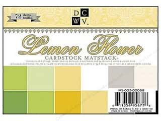 DieCuts Cardstock Stack 6.5x4.5 Lemon Flower