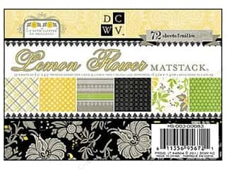 DieCuts Printed Mat Stack 6 1/2 x 4 1/2 Lemon Flower