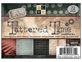 DieCuts Printed Mat Stack 6.5x4.5 Tattered Time