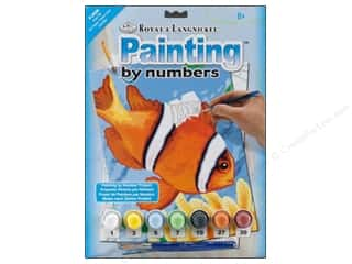 Beach & Nautical Crafting Kits: Royal Paint By Number Junior Small Clown Fish
