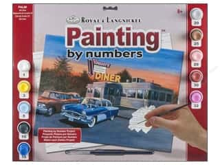 Rub-Ons Blue: Royal Paint By Number Adult 50's Diner