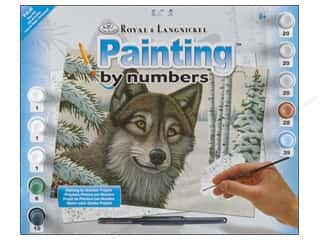 Kid Crafts Blue: Royal Paint By Number Junior Large Snow Wolf
