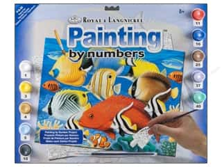 Kid Crafts Blue: Royal Paint By Number Junior Large Tropical Fish