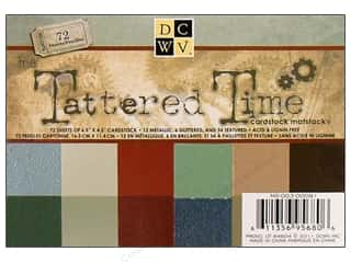 DieCuts Cardstock Stack 6.5x4.5 Tattered Time