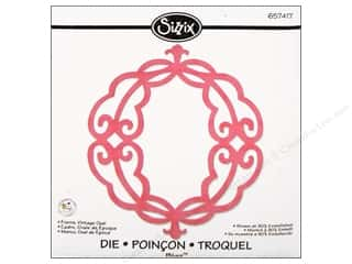 Sizzix Bigz Die Frame Vintage Oval by Scrappy Cat
