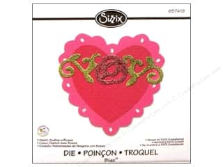 Sizzix Bigz Die Heart Scallop with Roses by Scrappy Cat