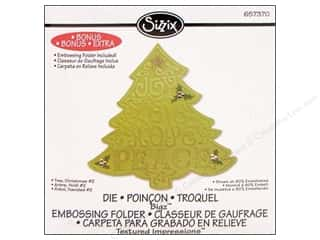 Sizzix Bigz Die Textured Impressions Christmas Tree #2 by Beth Reames