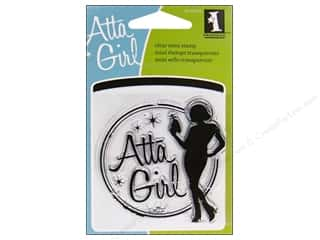 Clearance Inkadinkado Clear Stamp Mini: Inkadinkado InkadinkaClings Clear Stamp Mini Atta Girl