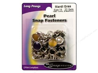 Snapsource Snap Capped Prong Ring Sz18 Prl MardiGr