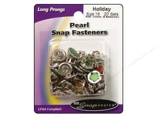 Snapsource Snap Capped Prong Ring Size 18 Pearl Multi Holiday