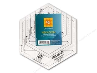 EZ Notions Black: EZ Quilting Hexagon Acrylic Template