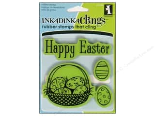 Inkadinkado Stamp Inkadinkaclings Happy Easter