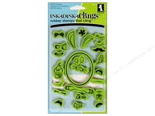 Weekly Specials Paper Accents: Inkadinkado InkadinkaClings Rubber Stamp Egg Faces