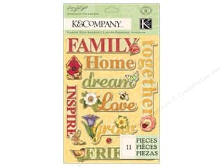 K&Co Adhesive Chipboard SW Meadow Word