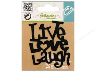 Feltables Fashion Iron On Live/Love/Laugh