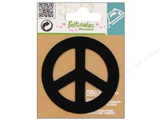 Feltables Black: Feltables Fashion Iron On Peace Sign