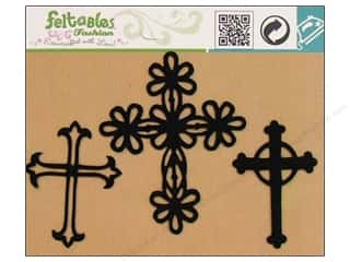 Feltables Black: Feltables Fashion Iron On Three Crosses 3pc