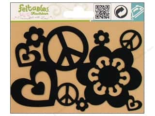 Feltables Black: Feltables Fashion Iron On Peace Party
